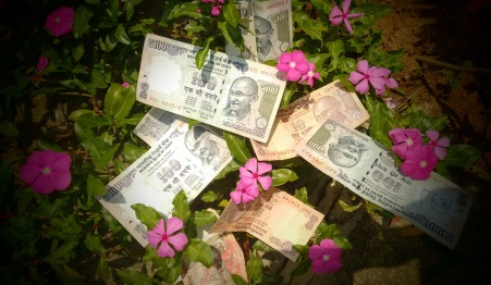 Money & flowers
